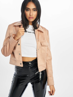 New Look Kvinder Overgangsjakker Esme Suedette Utility i rosa, 36