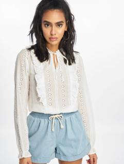 New Look Kvinder Bluse F Claire Cutwork i hvid, 40