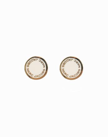 Øredobber - Cream Marc Jacobs Enamel Logo Disc Studs