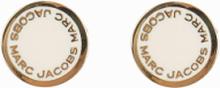 Marc Jacobs Enamel Logo Disc Studs Cream