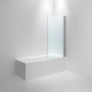 INR BASIC Isabel Klarglas Blank silver 800 - Badkarskant