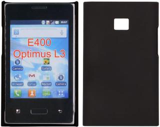 Hard Shell (Sort) LG Optimus L3 E400 Deksel