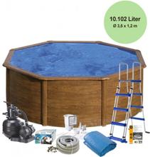 Pool Basic 120 - Ø350 cm - Brun