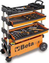 """Beta Tools sammenklappelig værktøjsvogn """"C27S-O"""" orange stål 027000201"""