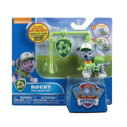 Paw Patrol Action Pack Pull Back Pup - Rocky