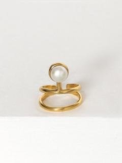 Cornelia Webb Pearled Knuckle Ring Ringe