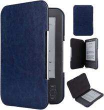 INF Kindle Keyboard Case (3. Gen) - PU skinn - Mørk blå