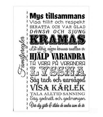 Poster Familjeregler