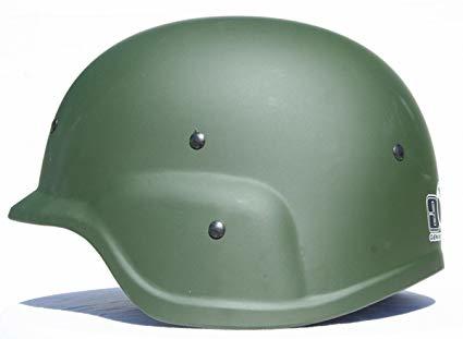 GXG Tactical Helmet - Olive - Til Bruk Med Paintball Masker