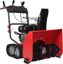 vidaXL to-trins sneslynge 196 cc 6,5 hk plastik rød og sort