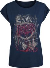 Slayer - Dripping Eagle -T-skjorte - marineblå
