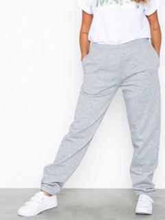 NLY Trend Cozy Sweat Pants Byxor Grå Melange