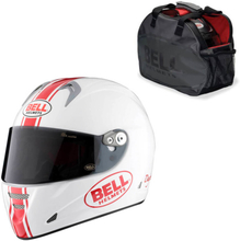 Bell Motorcykelhjälm M5X Daytona, white/red, large (59-60) MC-tillbehör