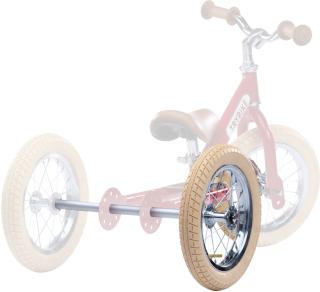 Trybike extra hjul kit beige (från 2 till 3, till röd/grön cyklar)