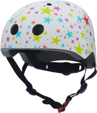 Trybike cykelhjälm vit med stjärnor (välj storlek)
