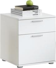 FMD Nattduksbord med 2 lådor vit