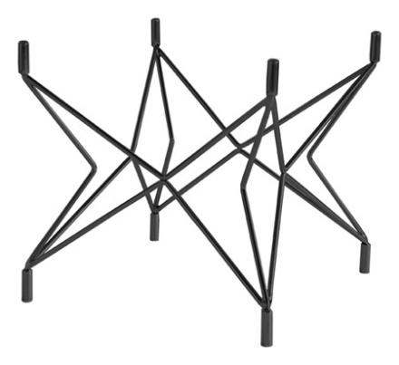 RGE Star Underrede, soffbord, Ø90, svart