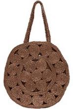 ONLY Blumige Einkaufs Tasche Damen Braun