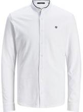 JACK & JONES Kinakrageprydd Långärmad Skjorta Man White