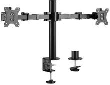 """LogiLink: Monitorarm dubbel 17-32"""""""" 380mm"""