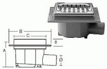 Purus komplet Afløbsskål t/Beton og klinkegulv 50 mm.