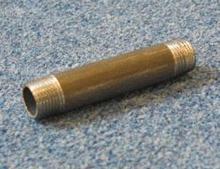 """Sort Nippelrør 3/8"""" - 150 mm"""