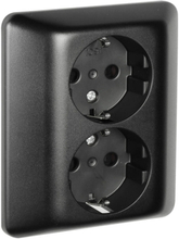 Vägguttag Elko RS 2-vägs svart