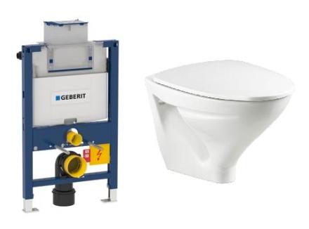Komplett pakke m/Geberit Omega 82 cm sisterne, Sign toalett og softclose sete - uten betjeningsplate