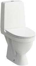 Laufen Kompas toilet m/skjult S-lås, skruemontering, rengøringsvenlig, hvid