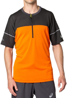 Asics Men's Fujitrail Top Herre Kortermede treningstrøyer Oransje L