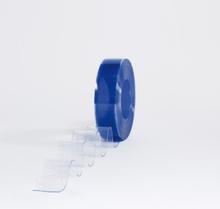 Multiporten PVC-ridå med stripes klar transparens 10x2 mm