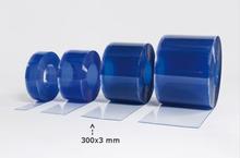 Multiporten PVC-ridå med stripes klar transparens 300x3 mm