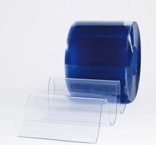 Multiporten PVC-ridå med stripes klar transparens 400x4 mm
