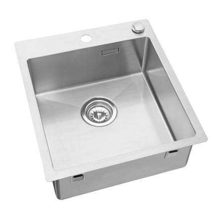Prisma Oakland Kjøkkenvask 44,5x50 cm, m/kurvventil, Rustfritt Stål