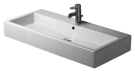 Duravit Vero Tvättställ 100x47 cm m/Kranhål m/Bräddavlopp
