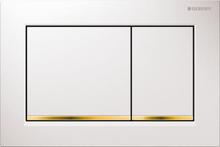 Geberit Omega30 Betjeningsplate, Hvit/Gull