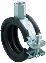 Rörklämma m/Isolering och M8/M10 gänga - 54-58 mm