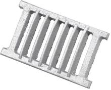 Duka Sokkelrist - 120X230 mm, støpt aluminium
