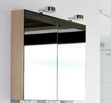 Dansani Calidris Speilskap 80x100x15 cm, m/Venus lampe, lys eik