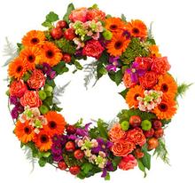Oransje begravelseskrans