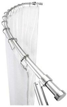 HeFe böjd duschdraperistång, Aluminium (montering med skruvar)