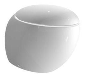 Ilbagno Alessi gulvstående Toalett inkl. toalettsete - 585x390 mm.