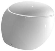 Laufen Ilbagno Alessi gulvstående toalett m/toalettsete, hvit