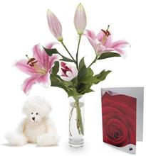 Vakkert i rosa gavesett
