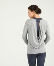 Asquith Open Back Tee -bambupaita (Pale Grey Marl)