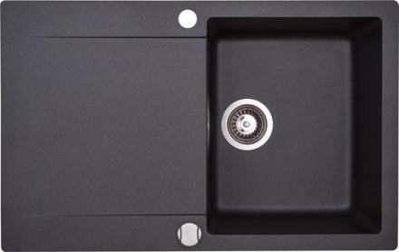 Lavabo Saturn 78 Kjøkkenvask i granittek 78 x 49,5cm t/Nedfelling