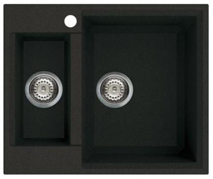 Lavabo Parma 150R Kjøkkenvask 60x50 cm, m/bunnventil, Granitek