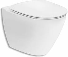 Ifö Spira Art 6245 vägghängd toalett utan spolkant m/Ifö Clean - med soft close sits
