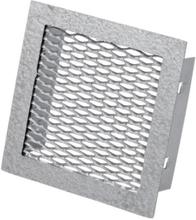 Duka Sokkelrist - 150x150 mm, støpt aluminium