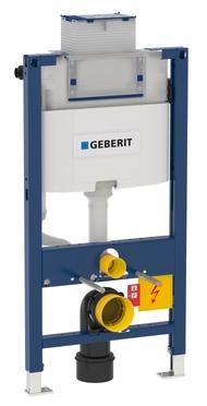 Geberit Duofix Omega innbygningscisterne top/frontbetjent wc-element Højde 98 cm